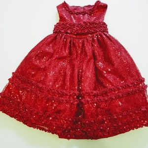 American Princess Red dress size 3T